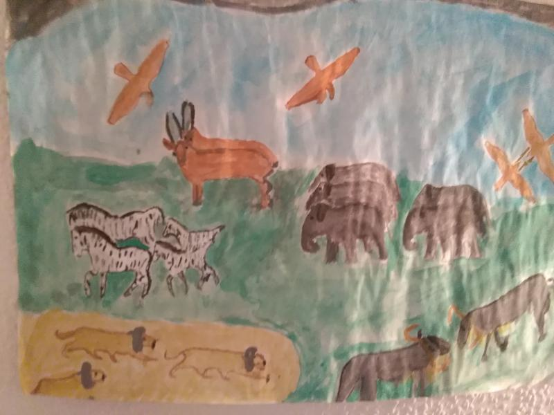 Landschaft, Tiere.