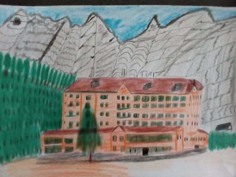 Landschaft und Natur, grosses Haus.