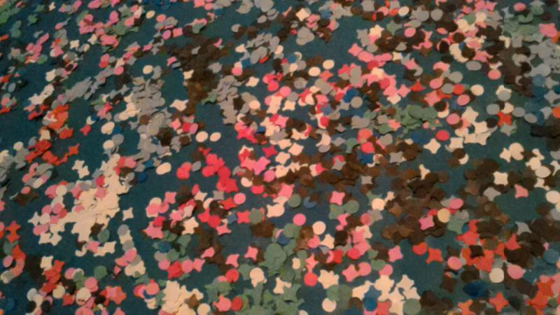 Confettibild Dunkelblau gross