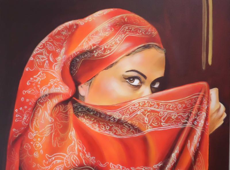 Schöne orientalische Frau