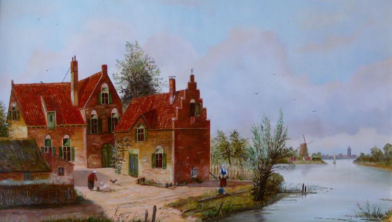 Holländische Gracht im Sommer