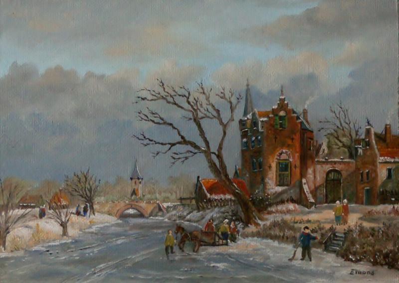 Winterstimmung mit Gracht