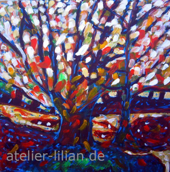Zwei Herbstbäume