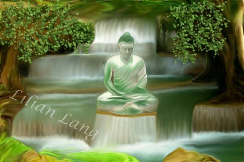 Buddha am Wasser