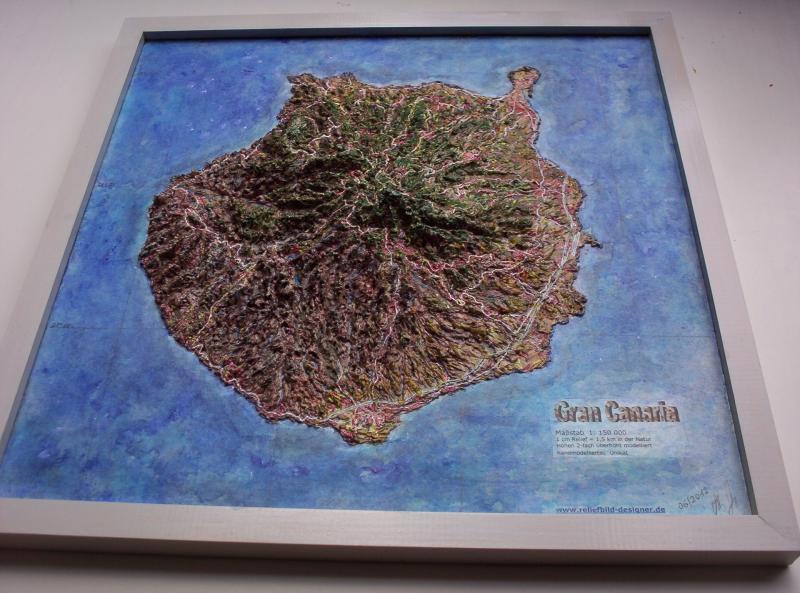 "Gran Canaria ""Geografisches Reliefbild-Unikat"""