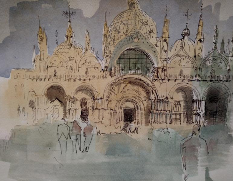 Der Dogenpalast in Venedig