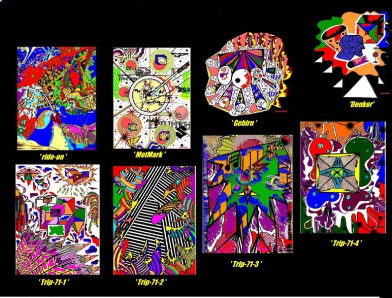 Sammler 'TRIPS' u.a., farbig,jeweils A4, digit.bearbeitet; Repro bis A3 -farbig: 650,00 € auch Einzelmotive möglich