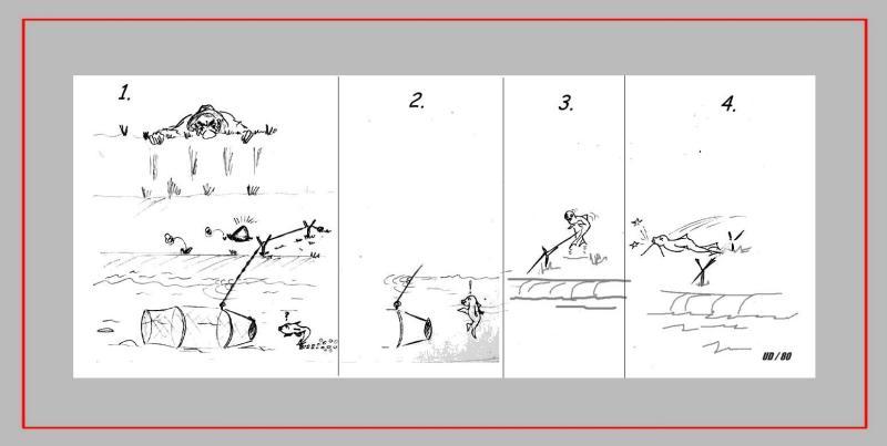 Comic 'ANGLER', Blei, A4: Repro bis A3 : 350,00 €