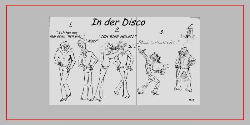 Comic 'DISCO', Blei, A4: Repro bis A3 : 350,00 €