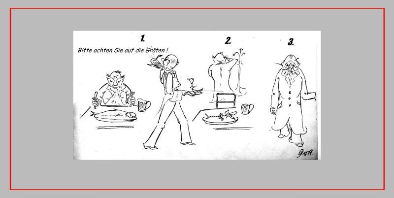 Comic 'GRÄTEN', Blei, A4: Repro bis A3 : 350,00 €