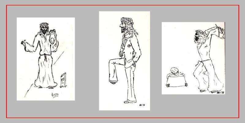 Sammler- Comic 'JESUS', Tusche, A4: Repro bis A3 : 350,00 €; auch Einzelmotive möglich