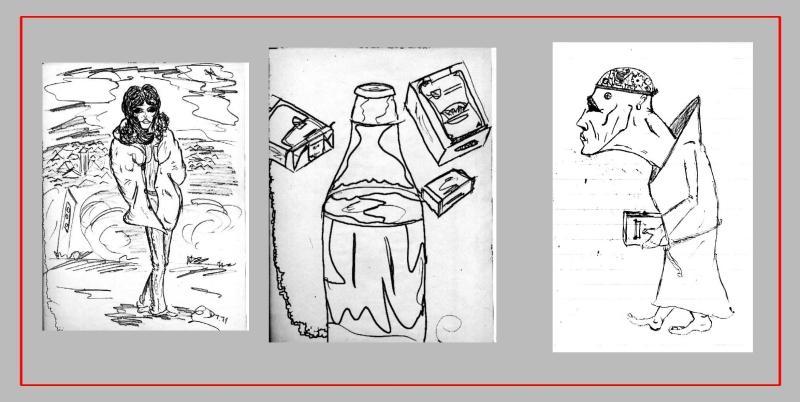 Sammler- Comic 'DIVERSE', Tusche, A4: Repro bis A3 : 350,00 €; auch Einzelmotive möglich