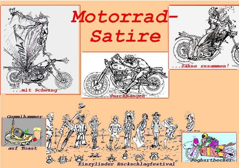 Sammler ' MOTORRAD-SATIRE ' , A3, Tusche/Blei/Filz, nur Einzelmotive ab A4-Blei: 155,00 €
