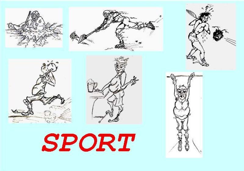 Sammler ' SPORT ' , A3, Tusche/Blei/Filz, nur Einzelmotive ab A4-Blei: 155,00 €