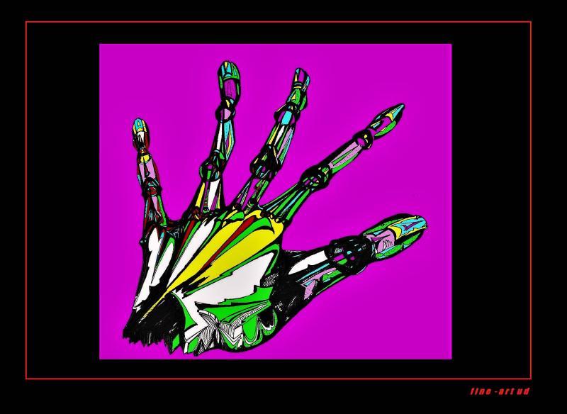 ' HAND 1 ', A4, digit. bearbeitet, Repro bis A3 : 1590,00 €