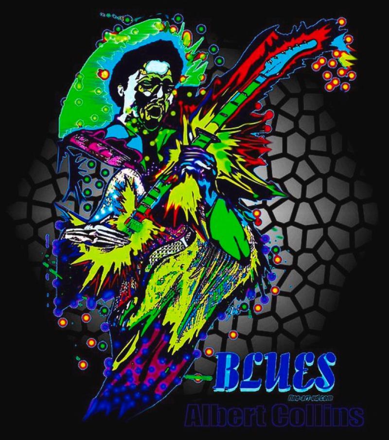 Blues- Serie: ' ALBERT COLLINS ',  A3, digit. bearbeitet, Repro bis A1 : 2990,00 €