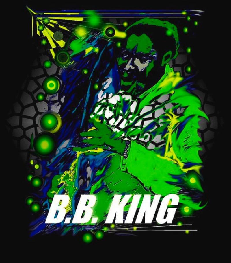 Blues- Serie: ' B.B.KING ',  A3, digit. bearbeitet, Repro bis A1 : 2990,00 €