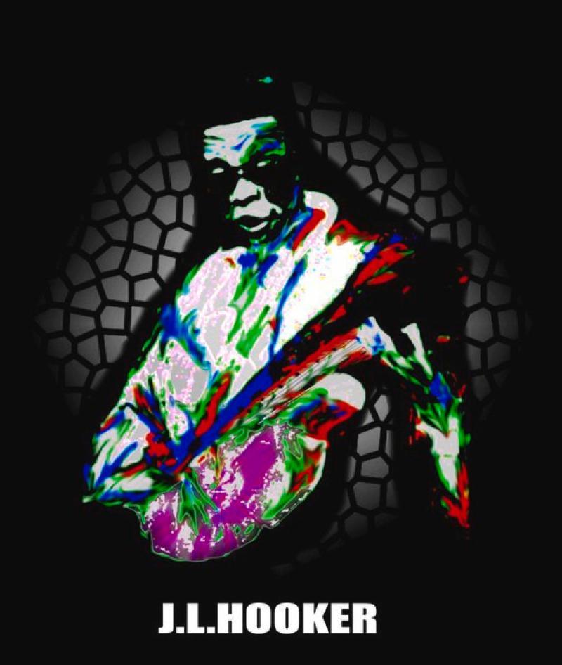 Blues- Serie: ' J.L.HOOKER ',  A3, digit. bearbeitet, Repro bis A1 : 2990,00 €