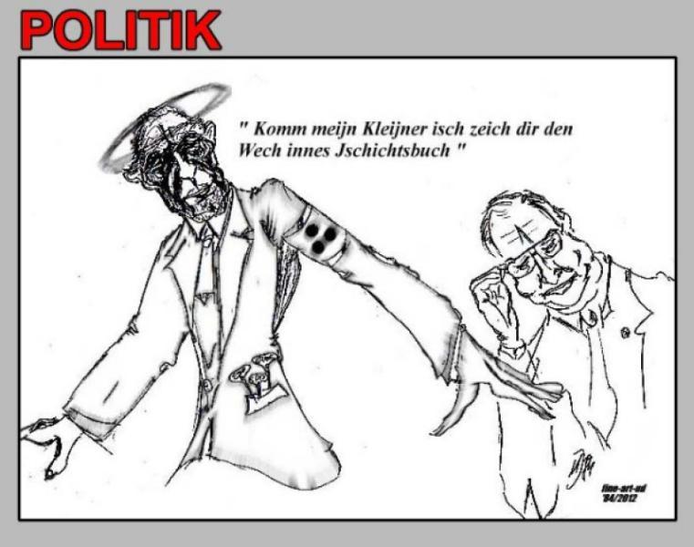 Serie 'Politik' Einzelbild ' DER ENKEL ', A4, Tusche, Repro bis A3 : 450,00 €