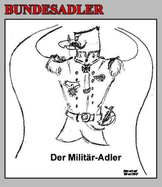 Serie 'Tiere' -Bundesadler , ' DER MILITÄR-ADLER ', A4, Tusche, Repro bis A3 : 650,00 €